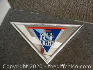 Coors Ice Light Mirror Sign