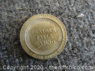 Feather Falls Casino $1 Coin