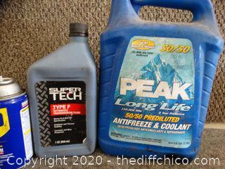 Mixed Car Fluids