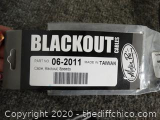 Blackout  Speedo Cable NEW