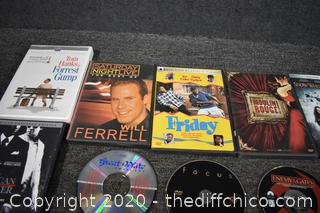 24 DVD's plus 9 CD's