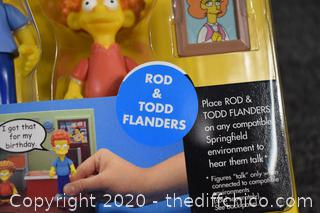 NIB Simpsons Rod and Todd Flanders
