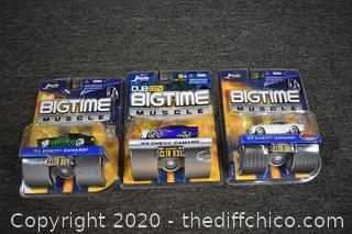 3 NIB BigTime Collectible Cars