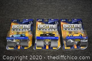 3 NIB BigTime Muscle Collectible Cars