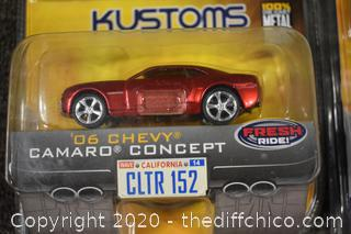 5 NIB Collectible Cars