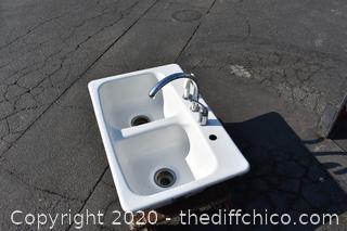 Cast Iron Porcelain Sink