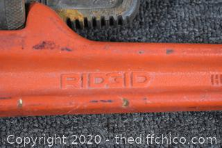 24in Ridgid Pipe Wrench