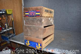 4 Vintage Crates
