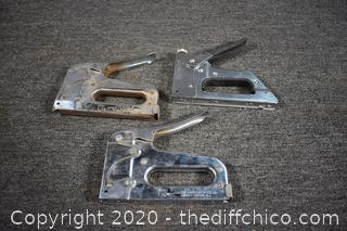 3 Staple Guns