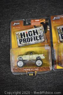 3 NIB High Profile Collectible Cars