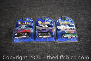 3 NIB Truckin Collectibles