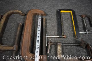 Mixed Lot of 'C' Clamps
