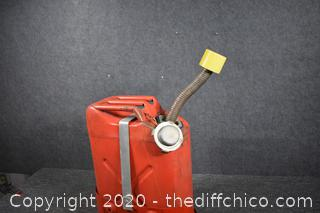 Metal Gas Can w/Mounting Holder