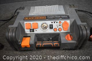 Working Black and Decker Portable Power Station