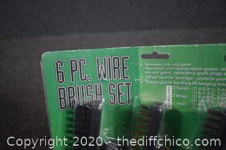 NIB Set of 6 Wire Brushes