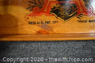 Budweiser Wood Tray
