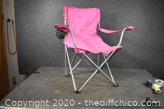 Folding Pink Chair
