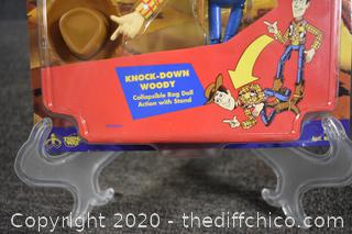 NIB Toy Story Knock Down Woody Figure