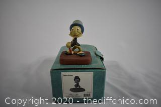 NIB Walt Disney Collection Pinocchio Cricket, the name Jimmy Cricket