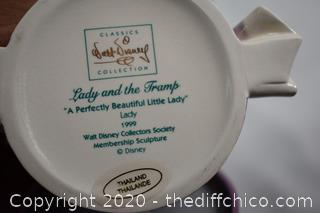 NIB Walt Disney Collection Lady and the Tramp A Perfectly Beautiful Little Lady
