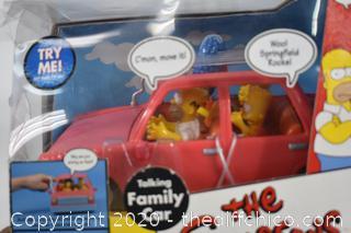 NIB The Simpsons Family Car