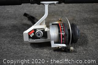 108in long Ocean Master Fishing Rod with Shakespeare Reel