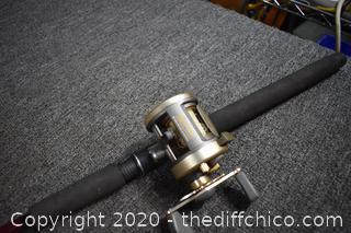84in long Shimano Fishing Rod w/Reel