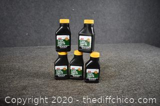 5 Bottles of 2-Cycle Synthetic Engine Oil
