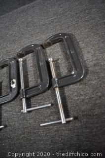4 'C' Clamps