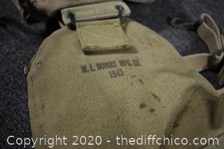 Vintage Military Backpack and Bag