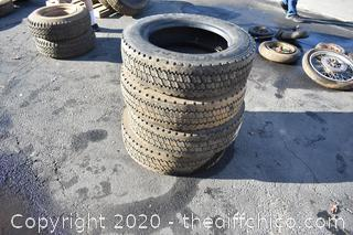 4 Tires - 225/70R 19.5