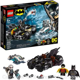LEGO DC Comics Super Heroes Batman Mr. Freeze Batcycle Battle Toy Motorcycle Building Set 76118