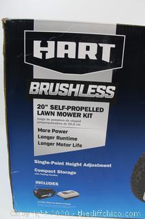BRAND NEW HART 40-Volt Cordless Brushless 20-inch Self-Propelled Mower Kit, (1) 5.0Ah Lithium-Ion Battery