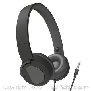 Gems Kids Wired On-Ear Headphones Black