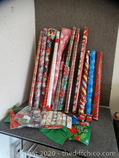 Christmas Wrapping Lot