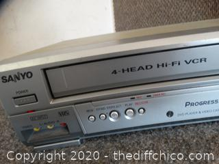 Sanyo VCR/ DVD Player