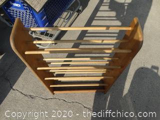 Wooden Shoe Rack / Movie Rack