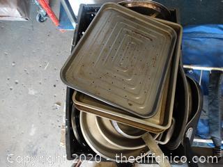Tub Of Pots & Pans