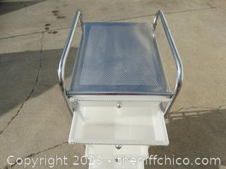 Rolling cart With 10 drawers  37.5x 15.5x 12.75