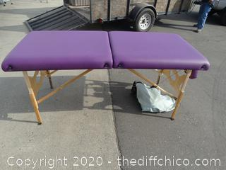 """Massage Table with case  72.5""""w/out head piece   head piece 9.5""""  ------------w31""""tall 34"""""""
