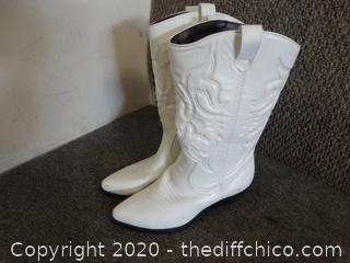 White Cow Girl BOOTS 7.5