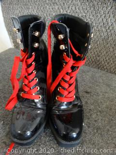 Womens Lace Up Heel Boots