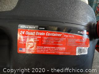 24 Qt  Drain Container