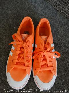 Women's Orange Adidas Shoes 7