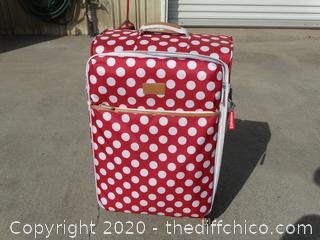 "Itluggago Red Rolling Suitcase  27"" x 17""x 12"""