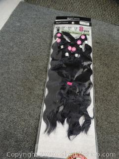 Black Purple Hair Extensions New