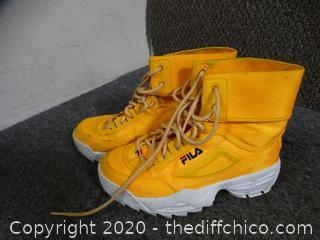 Yellow Fila Shoes 7