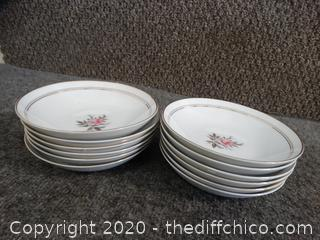 12 Noritake China Dishes