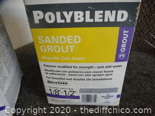 Poly blend sanded grout
