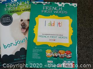Grade 1-3 French First Words work book